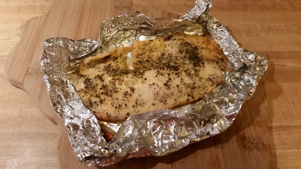 basil dill baked crappie