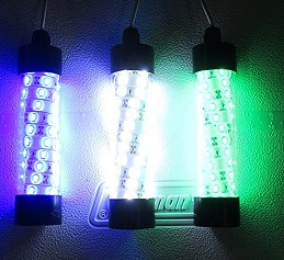 12V LED GREEN, WHITE OR BLUE UNDERWATER SUBMERSIBLE NIGHT FISHING LIGHT